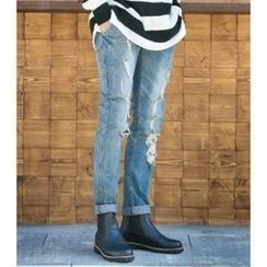 ABOKI - Distressed Blue Jeans