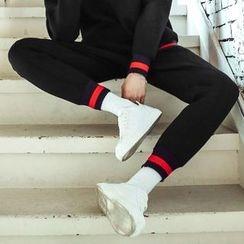MEOSIDDA - Contrast-Trim Neoprene Jogger Pants