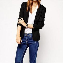 Richcoco - Slit-Back Blazer