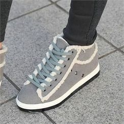 CHICFOX - Platform Lined-Trim Sneakers