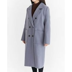 Someday, if - Notched-Lapel Double-Breasted Coat