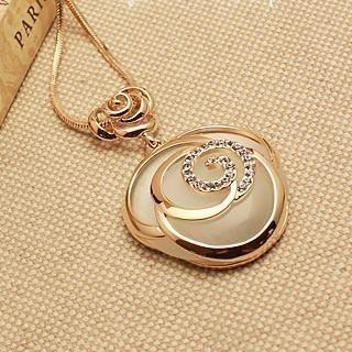 Love Generation - Rhinestone Rose Necklace