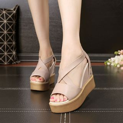 Hannah - Platform Hidden Wedge Sandals