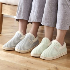 Lazy Corner - Striped Couple Slippers