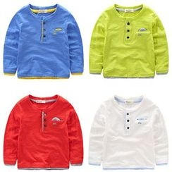 Kido - 小童長袖鈕釦T恤