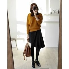 UPTOWNHOLIC - Asymmetric-Hem Ruffled Skirt