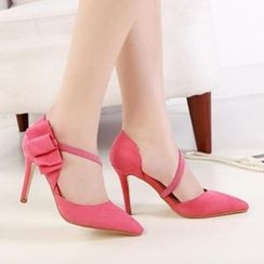 Mancienne - Bow-Accent Pumps