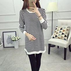 芙苪FR - 條紋針織裙衣