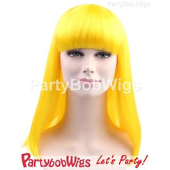 Party Wigs - PartyBobWigs - Party Long Bob Wigs - Yellow