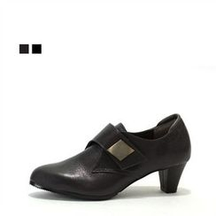 MODELSIS - Genuine Leather Velcro Pumps
