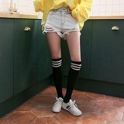 DABAGIRL - Distressed Washed Denim Shorts