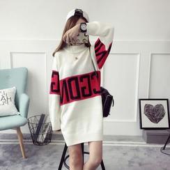 Qimi - Lettering Sweater Dress