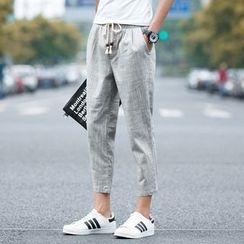 Prep Soul - 短款麻布褲
