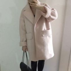 Lavogo - Plain Wool Lapel Coat