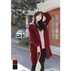 MyFiona - Hooded Shawl-Collar Coat
