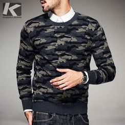 Quincy King - Camo Knit Pullover