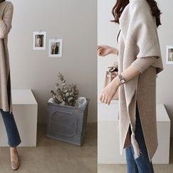 DAILY LOOK - Slit-Side Wool Blend Vest