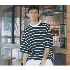Mr. Cai - Short-Sleeve Striped T-Shirt