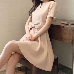 Ashlee - Plain Short-Sleeve Dress