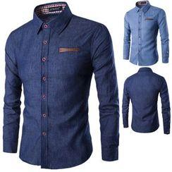 Peibo - Long-Sleeve Denim Shirt