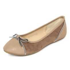 YesStyle Footwear - Zipper Bow Flats
