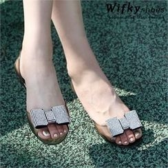 Wifky - Bow-Trim Jelly Flats
