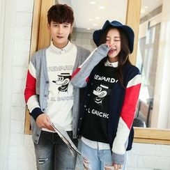 Evolu Fashion - Couple Open Front Knit Jacket
