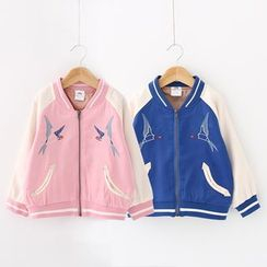 Seashells Kids - Kids Embroidered Baseball Jacket