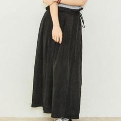 D.P-Shop - Ruffle-Trim Long Chiffon Skirt