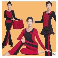 AUM - 舞蹈套装: 上衣 + 长裤 + 短裙