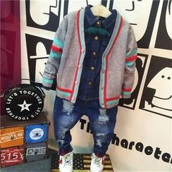 Spring Swallow - Kids Striped Cardigan / Kids Jeans