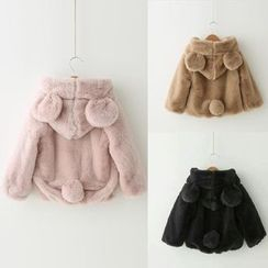 Spring Swallow - Kids Faux-Fur Coat