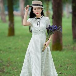 GU ZHI - 格紋連衣裙