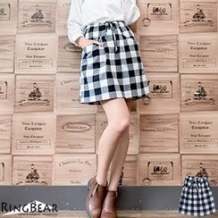 RingBear - Checked Skirt