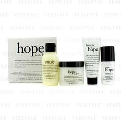 Philosophy - Hope for the Best Coffret: Cleasner 60ml/2oz + Mositurizer 60ml/2oz + Eye Cream 15ml/0.5oz + Hand Cream 30ml/1oz