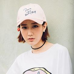 Heynew - Letter Embroidered Baseball Cap
