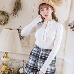 Tokyo Fashion - Tie-Neck Knit Top