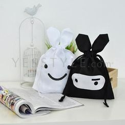 Doodles - Drawstring Bag (White)