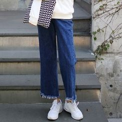 Seoul Fashion - Pocket-Front Wide-Leg Jeans
