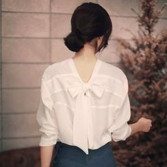 Enocula - Tie-Back Long-Sleeve Shirt