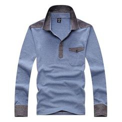 SENTA - Check Long Sleeve Polo Shirt