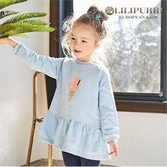 LILIPURRI - Girls Illustration Mini Pullover Dress