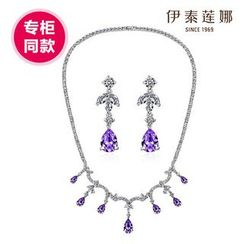 Italina - Set: Swarovski Elements Crystal Necklace + Earrings