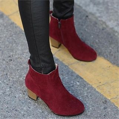CHICFOX - Faux-Suede Ankle Boots
