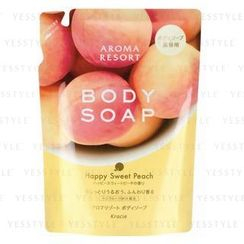 Kracie - Aroma Resort Body Soap (Happy Sweet Peach) (Refill)