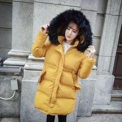 RUI - Furry Hooded Padded coat