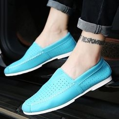 Shino - Stitch-Accent Casual Shoes