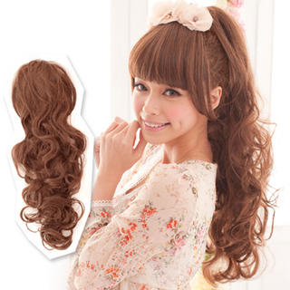 clair beauty hair ponytails long wavy yesstyle
