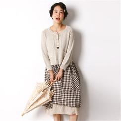 11.STREET - Inset Knit Top Midi Dress