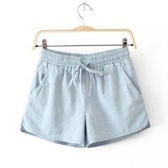 Blue Court - Drawstring Sweat Shorts